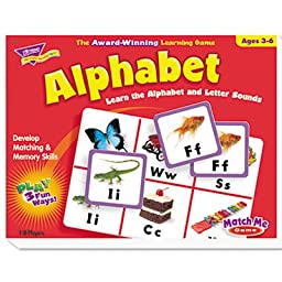 Alphabet Match Me Puzzle Game, Ages 4-7, Sold as 1 Each