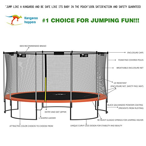 Kangaroo-Hoppers-15-Feet-Round-Trampoline-with-Safety-Net-Enclosure-and-Spring-Pad-Bonus-L-Shaped-Ladder-Included