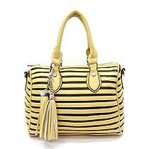 Hot Sale MyLux Handbag 121213 black yellow
