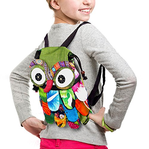 Buy Bargain TOP Asian Souvenirs Owl Backpack Adorable Patchwork (14Wx10L)