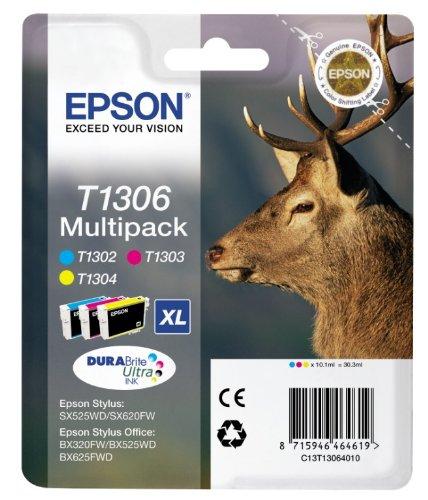 Epson T1306 Durabrite Ultra Tintenpatrone Hirsch Multipack 3-Pack
