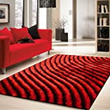 ~5 Ft. X 7 Ft. Solid Red Area Rug , on Sale!