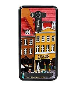 Cartoon Restaurant 2D Hard Polycarbonate Designer Back Case Cover for Asus Zenfone 2 Laser ZE550KL (5.5 INCHES)
