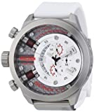 Welder by U-Boat K38 Oversize Chronograph Steel Unisex Watch White Rubber Strap K38-700