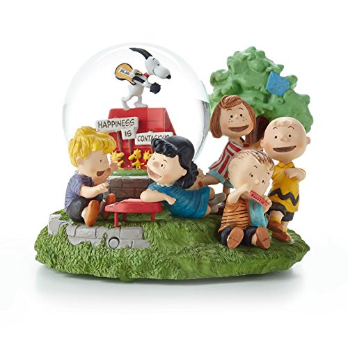 Hallmark Charlie Brown Snoopy Limited Edition Peanuts Gallery Musical Globe Happiness is Contagious