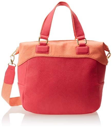 BCBGeneration Quinn The Tribute (colorblocked) Top Handle Bag,Teaberry Combo,One Size