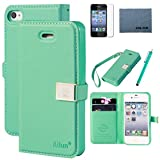 Case for Iphone 4s ,Case for Iphone 4, By Ailun,Wallet Case,PU Leather Case,,Cut,Credit Card Holder,Flip Cover Skin,(Green), with Screen Protect and Styli Pen