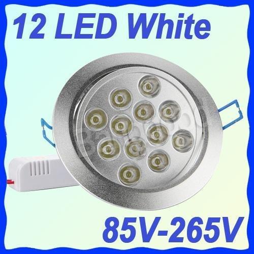 12W 85~265V Blanc Chaud Spot Encastrable 12 Led Ampoule Downlight Plafonnier #F