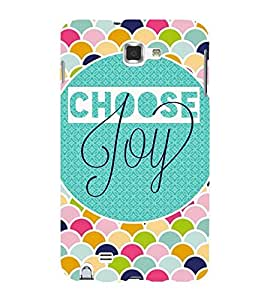 joy quote in a multicoloured geommetric pattern 3D Hard Polycarbonate Designer Back Case Cover for Samsung Galaxy Note i9220 :: Samsung Galaxy Note 1 N7000
