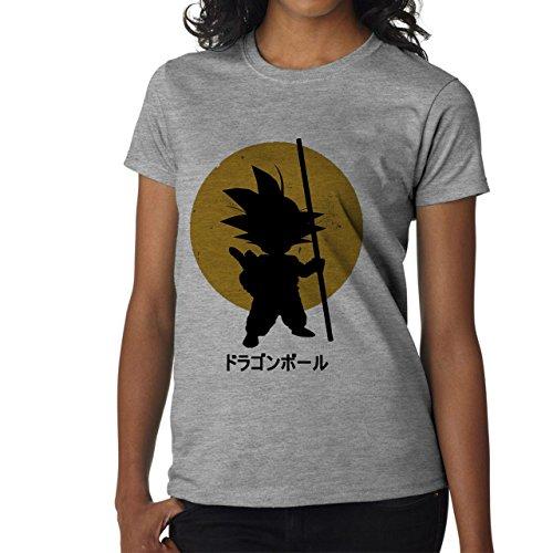 Dragon Ball Z Goku-Maglietta da donna grigio small