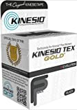 "Kinesio Tex Gold, Black Roll of Kinesio Tape, 2"" X 16.4"""