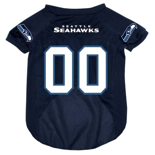 Nfl Seattle Seahawks Pet Jersey With Patch, Small, Team Color front-424425