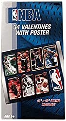 Paper Magic NBA Valentine Exchange Cards with Bonus Poster (34 Count)