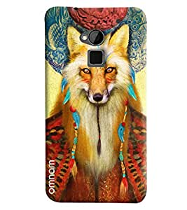 Omnam Wolf Face Printed Designer Back Cover Case For HTC One Max