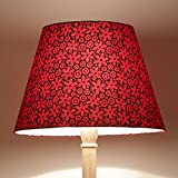 Craftter FLOWER DESIGN RED Colour FABRIC FLOOR Lamp Shade (CWFLS-29)