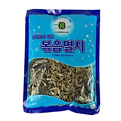 ROM AMERICA Korean Middle Size Dried Anchovies 8 oz ( 226g ) Anchovy for Soup Stock , ???? from ROM AMERICA