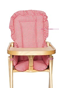 Kids Line Hi Chair Pad, Red Gingham