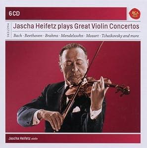 Jascha Heifetz interprète les Grands Concertos pour violon (Coffret 6 CD)