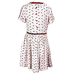 ShopperTree White Printed Dress(ST-1415_Multi-Coloured_3-4Y)