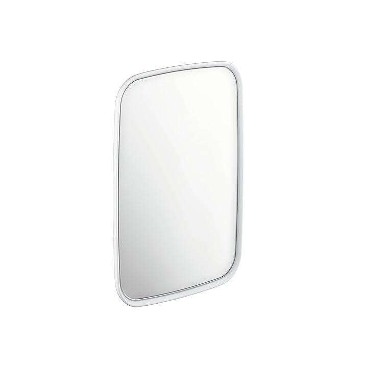 """Hansgrohe 42681000 - Specchio in cristallo """"Axor Bouroullec"""", misura piccola, colore: Bianco alpino/Cromato"""