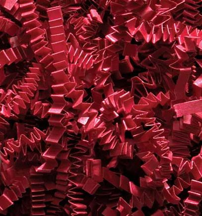 1/2 LB Crinkle Cut Paper Shred - Red