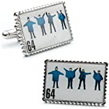 5166i2NzTmL. SL160  Beatles Help Album Cover Stamp Cufflinks