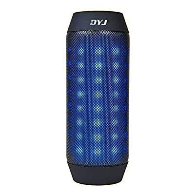 DYJ? Hi-Fi Portable Wireless Bluetooth Speaker with 4 Colorful LED Light Visual Display Mode Powerful Sound for Home Party / Bicycle / Picnic, Build in Mic Support Hands-free Function TF Card