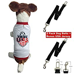 Dog Safety Seat Belt-2 Pack-adjustable and Durable- Nylon Strap- Keep Your Dog Safe While Traveling in Your Car.