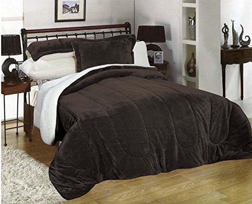 Down Alternative Comforter, flannel sherpa Comforter, Hypoallergenic,sherpa blanket, plush goose down alt borrego , bedding comforter, Allergen Barrier. Bed blankets. By Hiyoko (Alternative Down Comfortor compare prices)