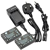 DSTE® 2pcs NP-120 Replacement Li-ion Battery + Charger DC29U for Fujifilm FinePix 603, FinePix F10, FinePix F10 Zoom, FinePix F11, FinePix F11 Zoom, FinePix M603, FinePix M603 Zoom