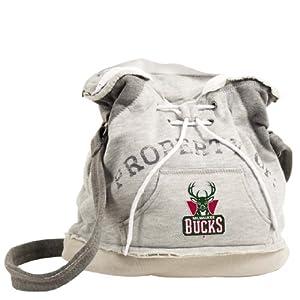 NBA Milwaukee Bucks Hoodie Duffel (Grey) by Pro-FAN-ity Littlearth