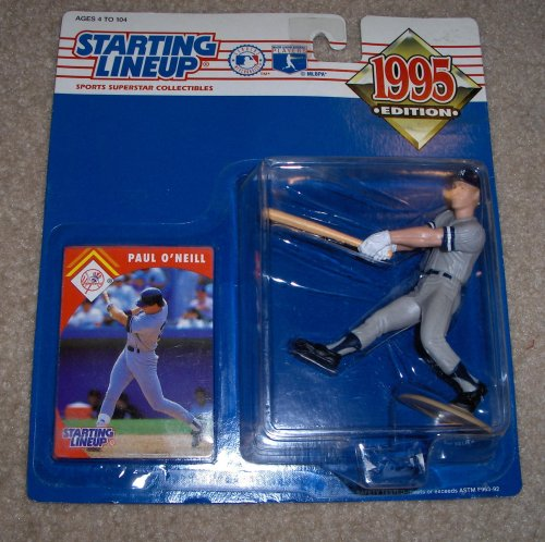 1995 - Kenner - MLB - Starting Lineup - Paul O'Neill #21 - New York Yankees - Vintage Action Figure - w/ Collector Card - Mint - Out of Production - Limited Edition - Collectible