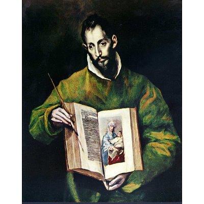(13x19) El Greco (St. Luke as painter) Art Poster Print