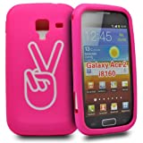 Accessory Master Silicone Case for Samsung Galaxy Ace 2 i8160 Victory Sign Pink