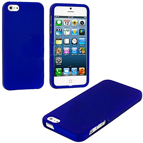 Mylife Royal Blue Flat Series (2 Piece Snap On) Hardshell Plates Case For The Iphone 5/5S (5G) 5Th Generation Touch Phone (Clip Fitted Front And Back Solid Cover Case + Rubberized Tough Armor Skin)