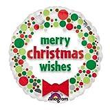 """【クリスマスバルーン】チャーミィパック 18""""クリスマスウィッシュドッツ(5枚)  / お楽しみグッズ(紙風船)付きセット [おもちゃ&ホビー]"""