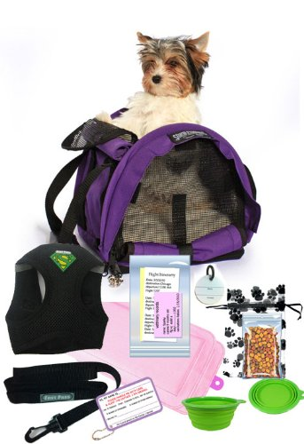 All In One Airline Pet Travel Bag Package