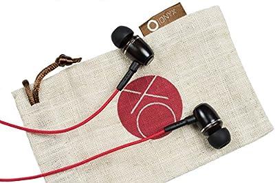 Onyx ELO Premium Genuine Wood In-ear Noise-isolating Headphones with Mic