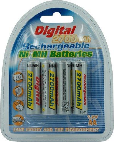 Générique-Lot de 4 piles rechargeables aa lr6 2700