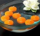 Kerzen Schwimmkerzen Teelichter mandarin orange 8er-Pack