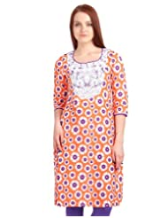 Estyle Women's Embroidered Yoke Kurta