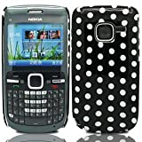 GVAccessories Nokia C3-00 Black Hard Back Polka Dot Case