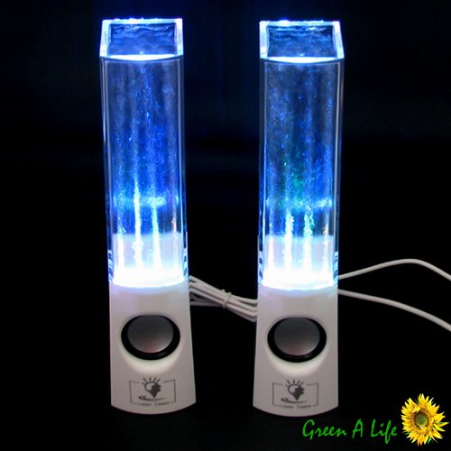 Water Dance Fountain White Speaker System for iPhone Z10 Galaxy S4 Note 2 HTC PC