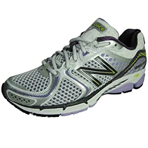 New Balance Women's W1260v2 Stability Running Shoe,Silver/Purple,7.5 2A US