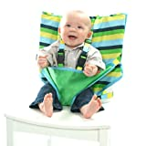 My Little Seat Infant Travel High Chair Colored Stripes