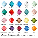 Wholesale Lot 200 bicone 6MM #5328 Swarovski Crystal Beads 20 colors (1)