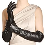 WARMEN Best Sale!Ladies Opera Long Genuine Soft Nappa Leather Gloves