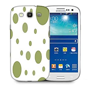 Snoogg Green Blocks Printed Protective Phone Back Case Cover For Samsung S3 / S III