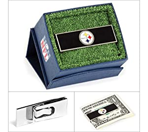 Cufflinks Inc Men's Pittsburgh Steelers Money Clip