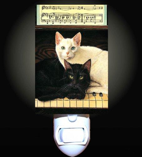 Piano Cats Decorative Night Light